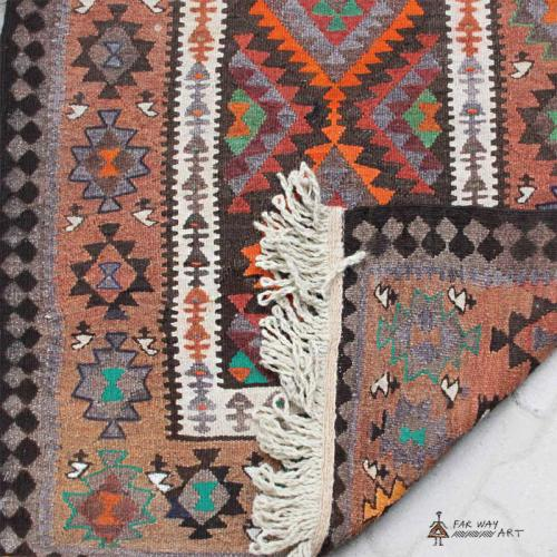 Persian Nomadic Kilim (Turkmen Tribal) persian kilim4 farwayart