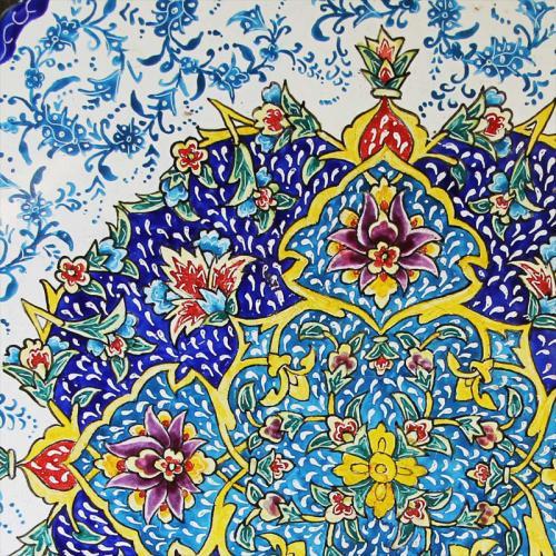 Persian Hand-painted Meenakari Plate persian minkari2 farwayart