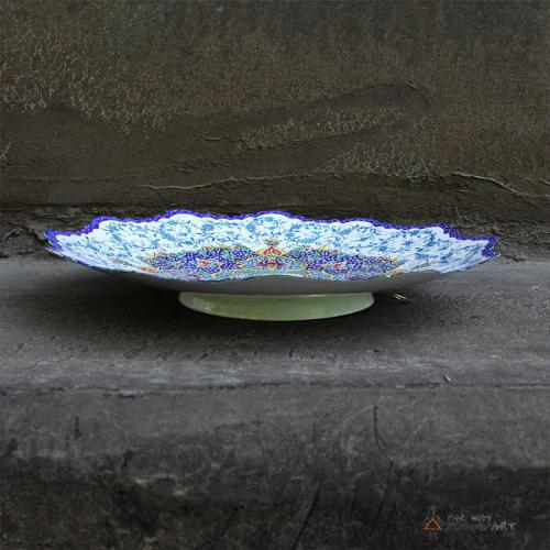 Persian Hand-painted Meenakari Plate persian minkari3 farwayart