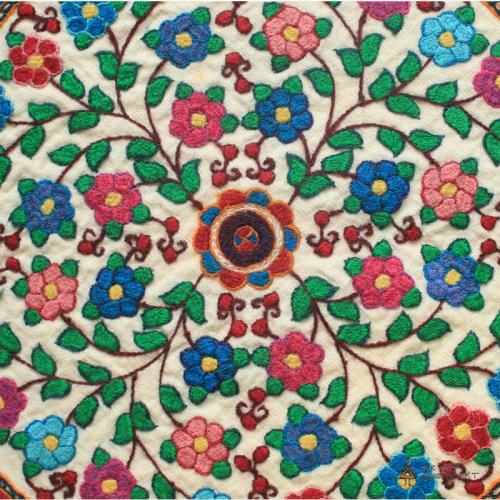 Hand-embroidered Suzani Pillow Cover persian needlework farwayart