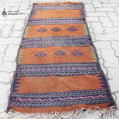 Persian Nomadic Vintage Kilim Rug persian nomadic vintage kilim rug farwayart2