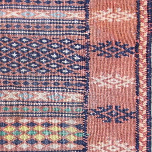 Small Semi Antique Pink Rug persian small rug3 farwayart