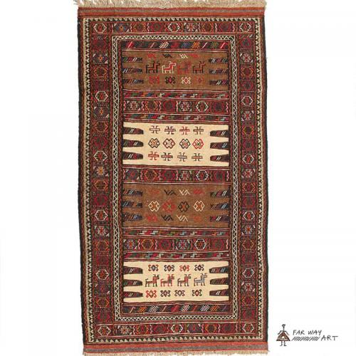 Persian Tribal Rug (Kurdish Sofreh) persian tribal rug kurdish sofreh2 farwayart