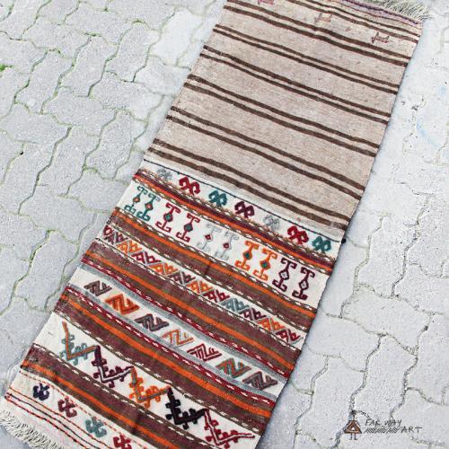 Vintage Persian tribal kilim rug