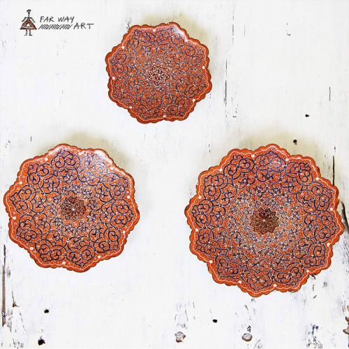 Pink Hand Painted Mandala Plates