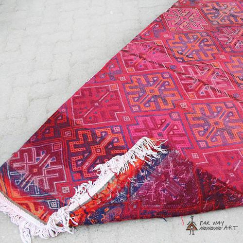 Vintage Pink Boho Runner Rug pink runner rug3 farwayart