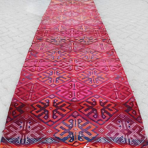 Vintage Pink Boho Runner Rug pink runner rug4 farwayart