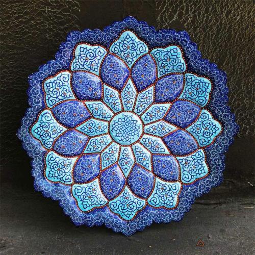 Persian Hand-painted Mandala Plate