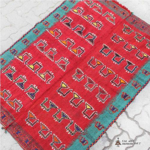 Persian Colorful Nomadic Flat Woven Rug