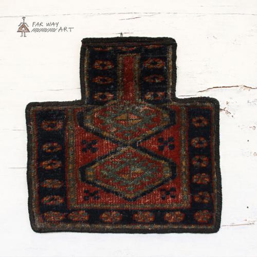 Antique Persian tribal salt bag rug
