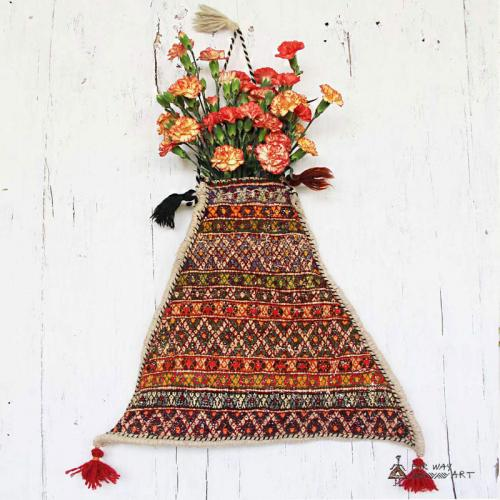 Persian Tribal Salt Bag Wall Hanging