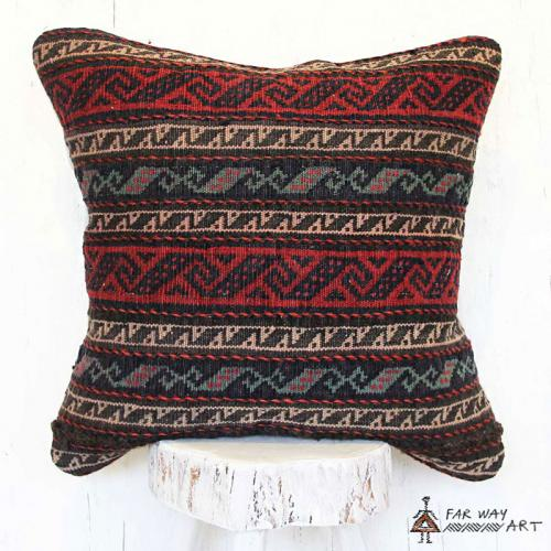 Striped Tribal Kilim Pillow