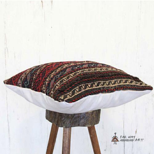 Striped Tribal Kilim Pillow striped tribal kilim pillow2 farwayart