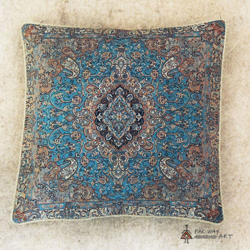Hand-woven Termeh cushion cover