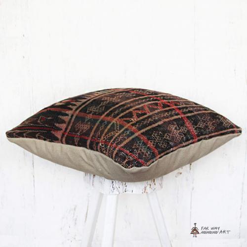 Antique Baloch Tribal Rug Pillow tribal rug pillow3 farwayart