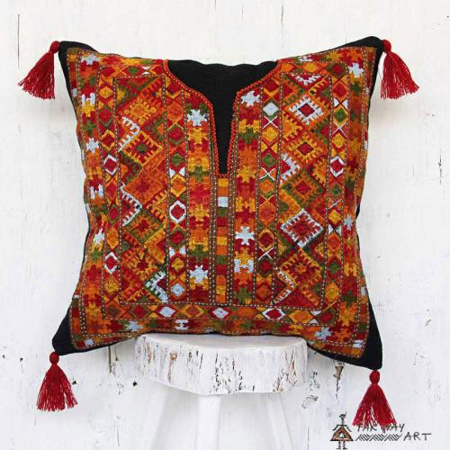Tribal Hand Stitched Pillow