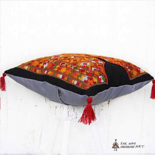 Tribal Hand Stitched Pillow tribal suzani pillow4 farwayart