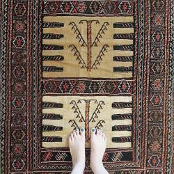 Persian nomadic rug (Kurdish Sofreh)