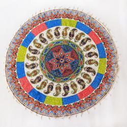 Hand Block Print Mandala Tapestry