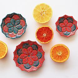 Hand-painted and Enameled plates (Persian minakari)