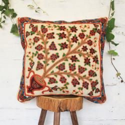 Persian ethnic hand embroidered pillow