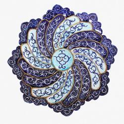 Hand Painted and enameled mandala plate (Meenakari)