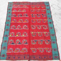 Persian colorful nomadic flat woven rug