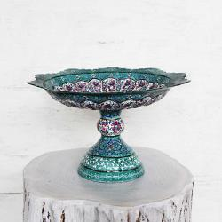 Hand painted Pedestal Candy & Nut Bowl Dish (Minakari)