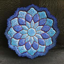 Persian hand-painted and enamel mandala plate