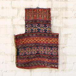 Antique tribal decorative rug salt bag