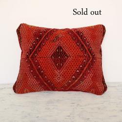 Persian antique rug pillow cover