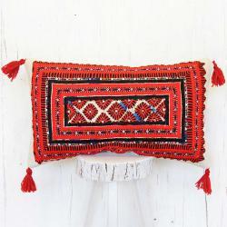 Tribal needlework pillow
