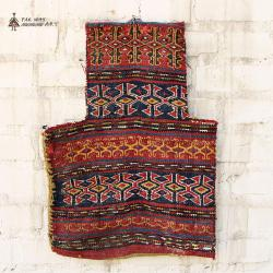 Antique Tribal Decorative Rug Salt Bag