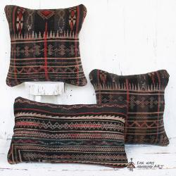 Antique Tribal Rug Pillow Set