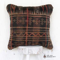 Antique Persian Tribal Rug Pillow