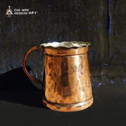 Persian hand hammered copper mug