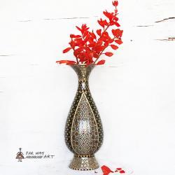 Handmade Wood Marquetry Vase