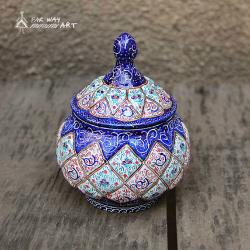 Hand Painted Sugar Bowl (Meenakari Enamel)