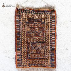 Small Semi-antique Rug Wall Decor