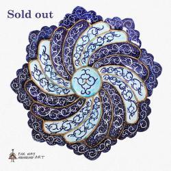 Hand Painted & Enameled Mandala Plate (Meenakari)