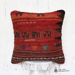 Tribal Kilim Pillow with animal motif no.2