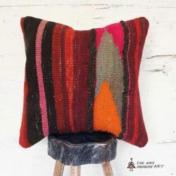 Vibrant Kilim Pillow Cover