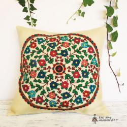 Hand-embroidered Suzani Pillow Cover