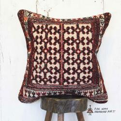 Tribal Rug Pillow With A Unique Design