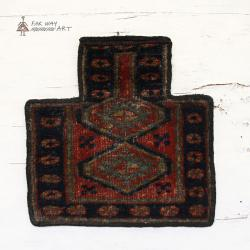 Antique Persian tribal salt bag rug