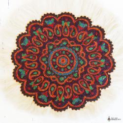 Ethnic Hand Embroidered Mandala Tablecloth