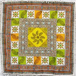 Vibrant Hand Block Printed Mandala Tapestry