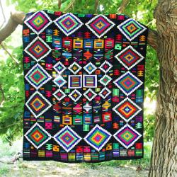 Indigo Hand Woven Tapestry
