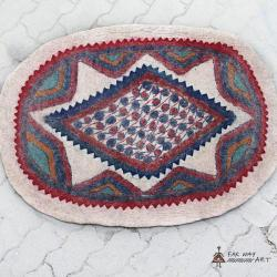 Oval Wool Felt Rug