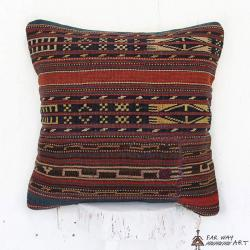 Persian Antique Flat Woven Rug Pillow